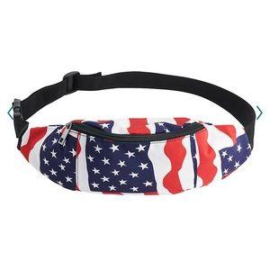 NEW Unisex Patriotic American Flag Fanny Pack